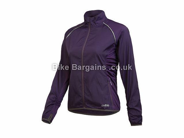 dhb Ladies Lightweight Packable Run Jacket 12, Black