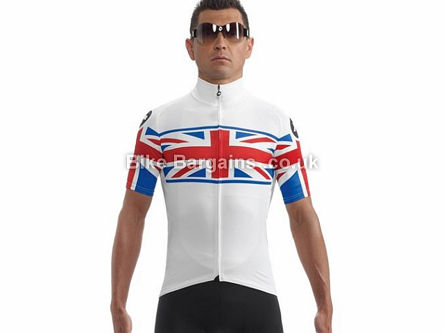 Assos neoPro UK Cycling Jersey S, White, Red,Blue