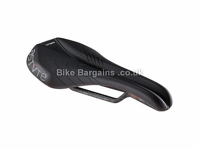 Astute Sealite VT Carbon Road Bike Saddle 195g, Black, Carbon Rails, Mens, 138mm, 250mm