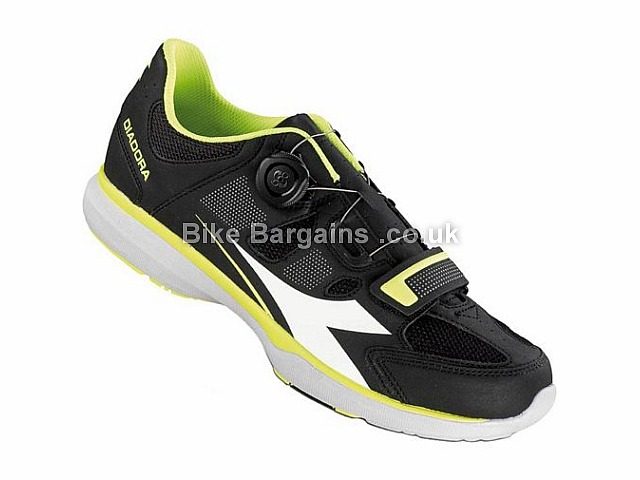 Diadora Gym Casual Road Shoes 37,39,40,41,42,43,44,45,46,47, Black, Yellow