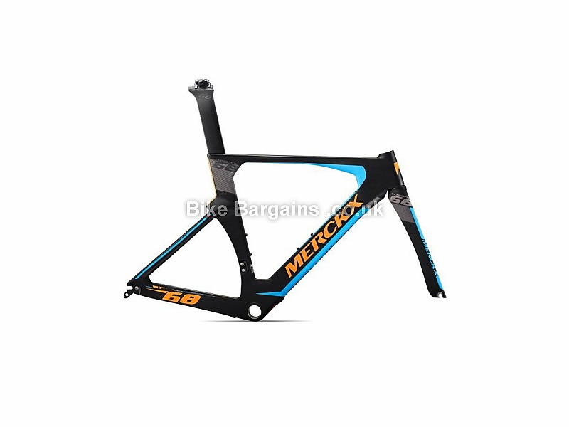 Eddy Merckx Lugano 68 Time Trial Carbon Caliper Road Frameset 2016 L, Black, Carbon, 1380g, Caliper Brakes, 700c