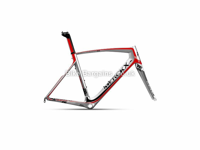 Eddy Merckx San Remo 76 Carbon Caliper Road Frameset 2016 XL, Black, Grey, Silver, Carbon, 1380g, Caliper Brakes, 700c