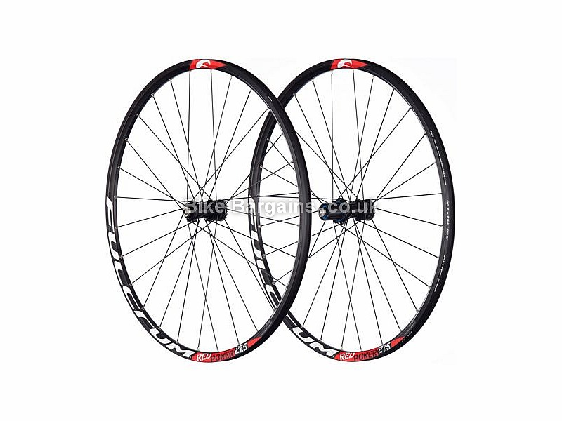 "Fulcrum Red Power 27.5 inch MTB Wheelset Shimano, 27.5"", Black, White, 9,10 or 11 Speed"