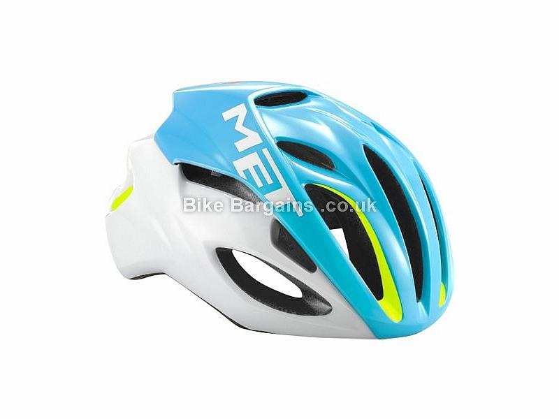 MET Rivale Road Helmet 2017 L, Black, Turquoise, Yellow, 230g, 16 vents