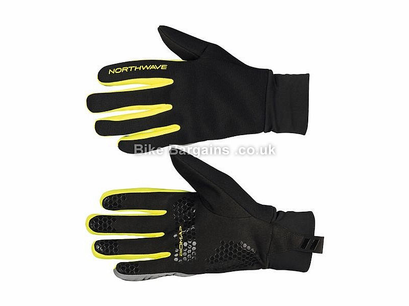 Northwave Power 2 Grip Gel Cycle Gloves S, XL, XXL, Black, Yellow