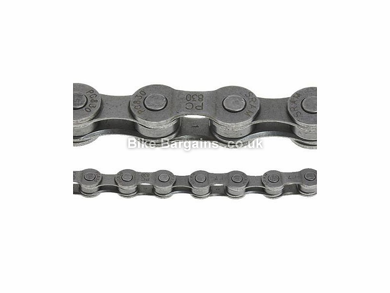 SRAM PC830 8 Speed Road MTB Chain Silver, 7 or 8 Speed, 114 links, 309g,
