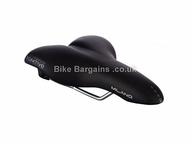 Selle San Marco Milano Glamour Gel Saddle 327g, Black, Steel Rails, Mens, 269mm, 175mm