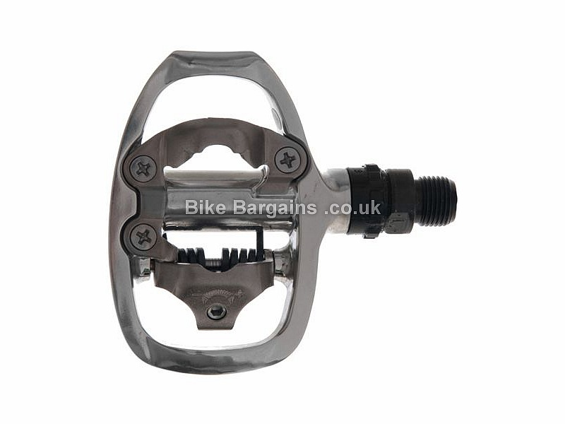 Shimano A520 SPD Road Touring Alloy MTB Pedals 330g, Single Sided, MTB SPD Cleats, Silver