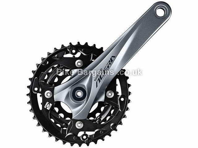 Shimano Acera M3000 9 Speed Triple alloy MTB Chainset 972g, 170mm, 175mm, Silver, 9 Speed, Alloy