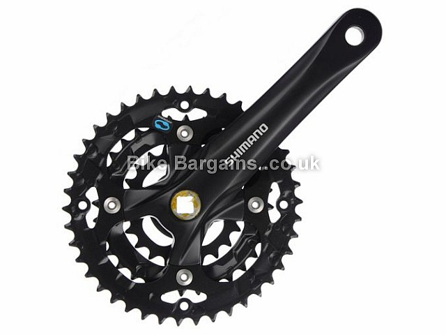 Shimano Acera M361 8 Speed Triple alloy MTB Chainset 1121g, Black, Silver, 7/8/9 Speed, 175mm, 170mm, Alloy