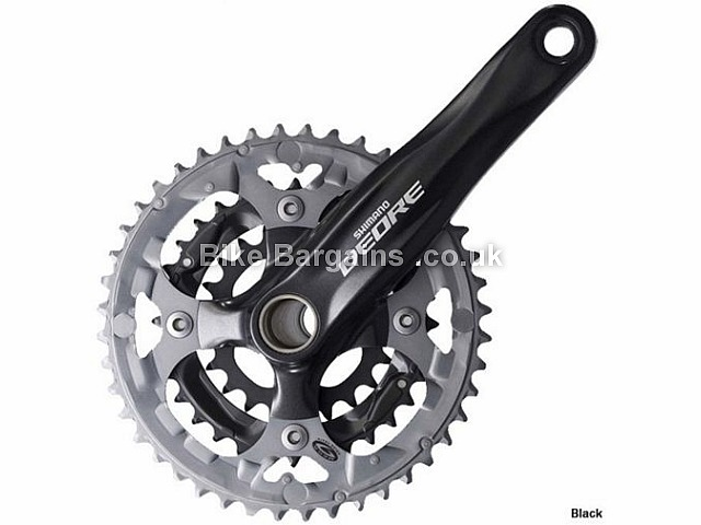 Shimano Deore M590 9 Speed Triple alloy MTB Chainset 844g, 170mm, 175mm, Black, Silver, 9 Speed, Alloy