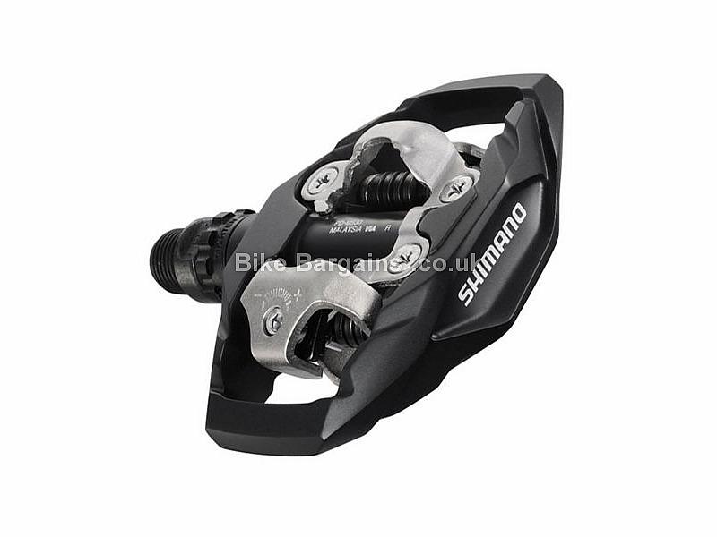 Shimano M530 SPD Trail Mountain Biking Pedals 455g, Platform, Dual Sided, Black, White