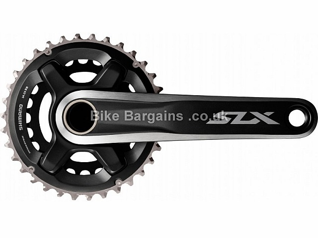 Shimano SLX M7000 11 Speed Double MTB Chainset 175mm, Black, Alloy, 11 speed, Double Chainring, MTB, 789g