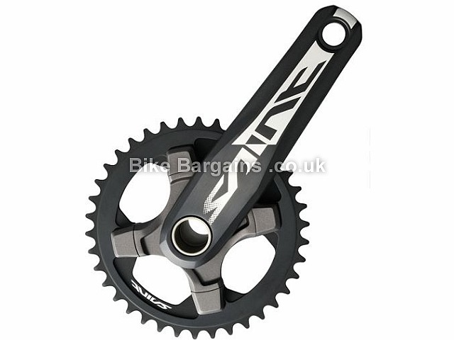 Shimano Saint M820 Single alloy MTB Chainset 804g, 165mm, 170mm, Black, Includes Bottom Bracket, 10 Speed, Alloy