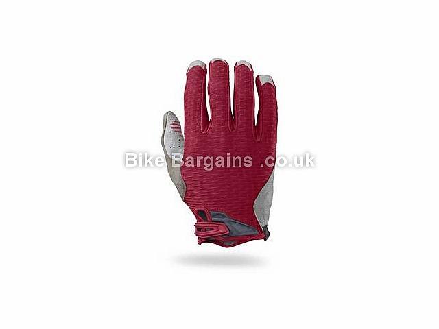 Specialized Ridge Full Finger Gloves S, Black, Red, Full Finger, Velcro