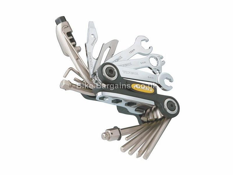 Topeak Alien II 26 Function Multi Tool 270g, 26 Functions, Black, Silver