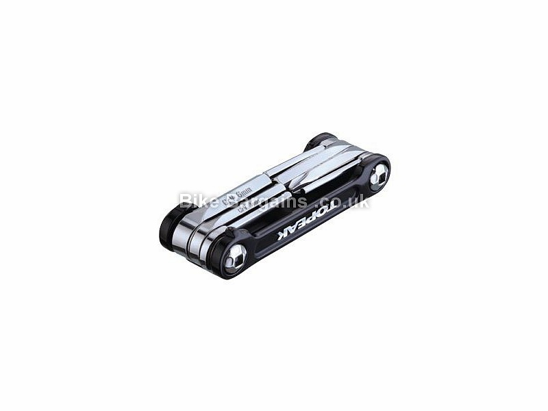 Topeak Mini 9 Function Pro Lightweight Alloy Multi Tool 73g, 9 Functions, Gold, Silver