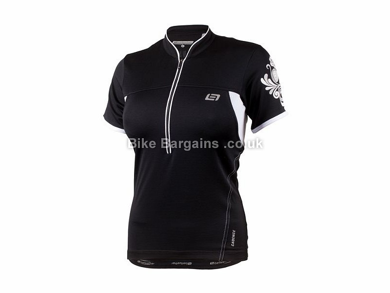 Bellwether Impulse Ladies Airfit Short Sleeve Jersey XL, Black, White