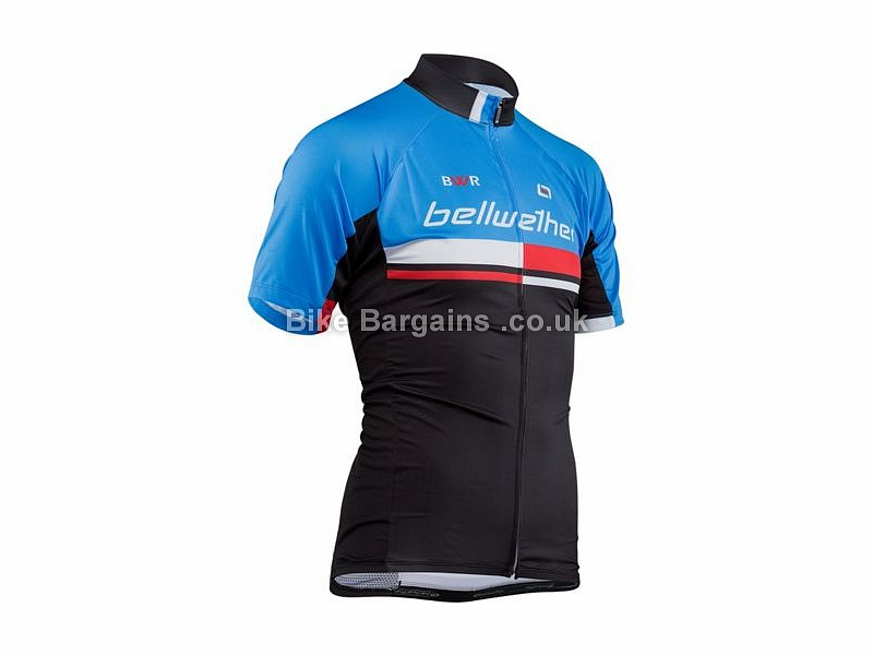 Bellwether Matrix Airlite Short Sleeve Cycling Jersey S, Blue