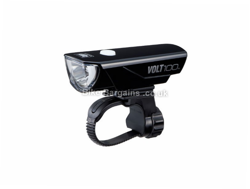 Cateye VOLT 100 Lumens Rechargeable Front Bike Light Black, 100 Lumens, 150 when flashing!