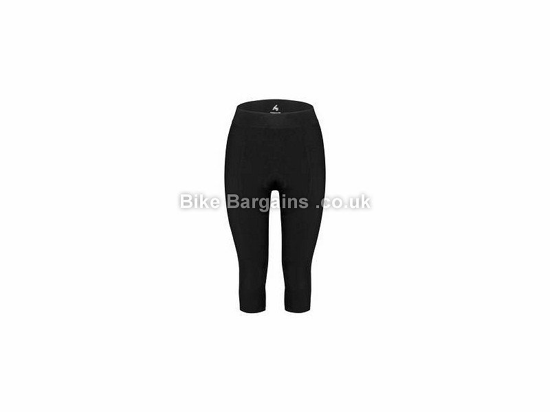 FWE Ladies Thermal BKB 3/4 Waist Tights Black, XS