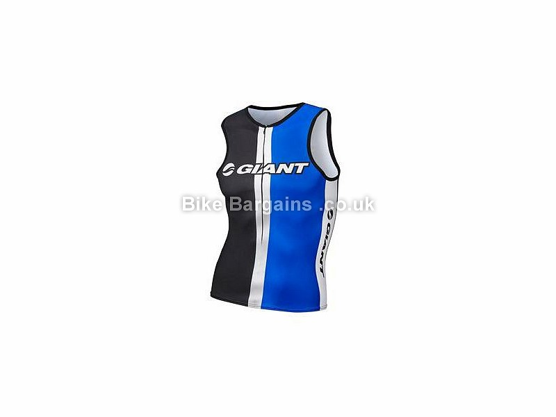 Giant Race Day Sleeveless Triathlon Top S,L,XXL, Blue, Black