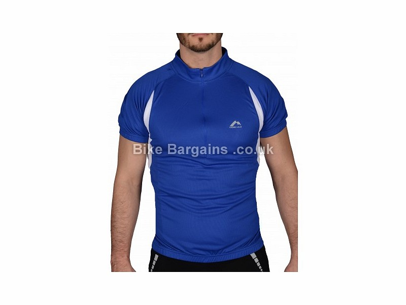 More Mile Blue Short Sleeve Jersey XS,S,M,L, Blue