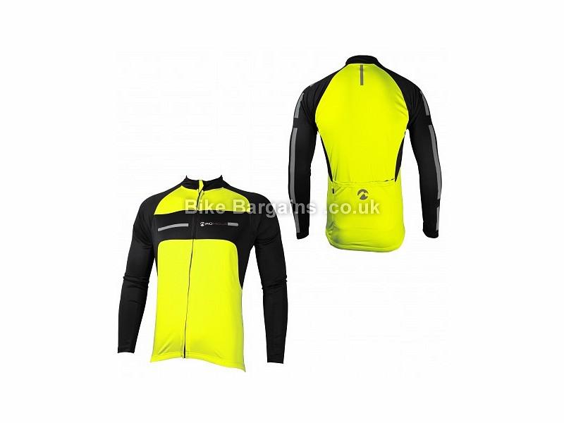 Piu Miglia Long Sleeve Men's Black Cycle Jersey Black, Yellow, S