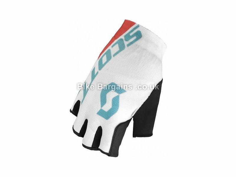 Scott RC Ladies Fingerless Cycling Mitts White, Blue, XS,M,L,XL,
