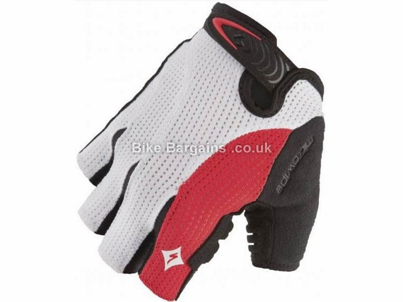 Specialized Body Geometry Gel Ladies Cycling Mitts S, White, Red