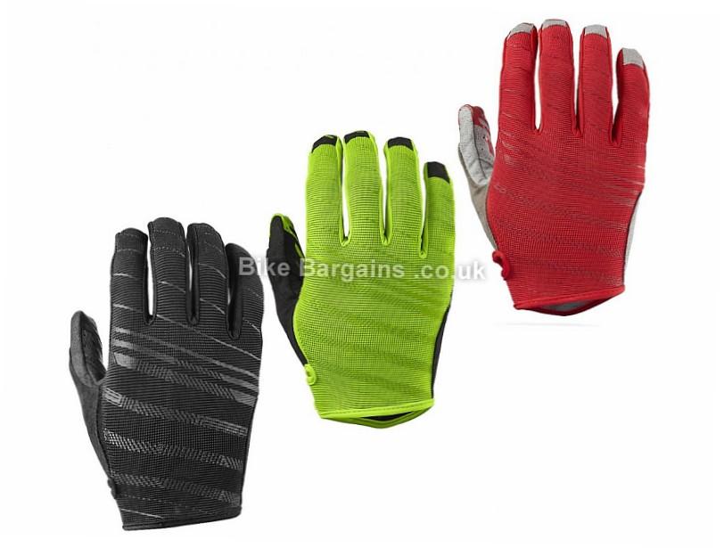 Specialized Lodown Clarino Full Finger Gloves 2017 XXL, Red, Full Finger, Velcro