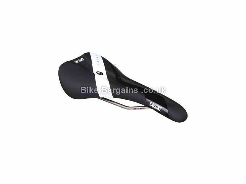 Cosine Titanium Endurance Road Bike Saddle Black, White, 145mm, 226g