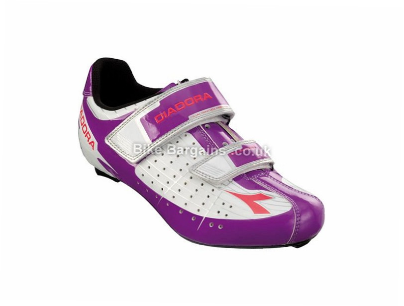 Diadora Phantom Ladies Velcro SPD-SL Road Shoes 37, White, Purple