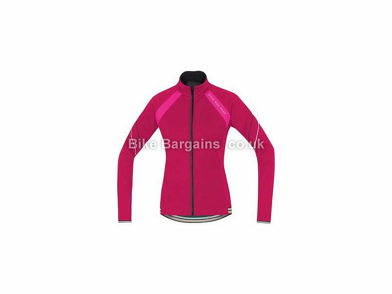 Gore Bike Wear Power 2.0 Ladies Windstopper Softshell Jacket 36, Blue, Pink, Women's, Long Sleeve