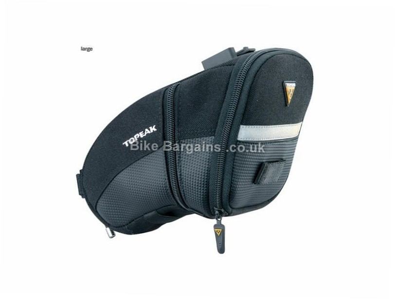 Topeak Aero Wedge Small Quick Clip Saddle Bag S, black, 105g