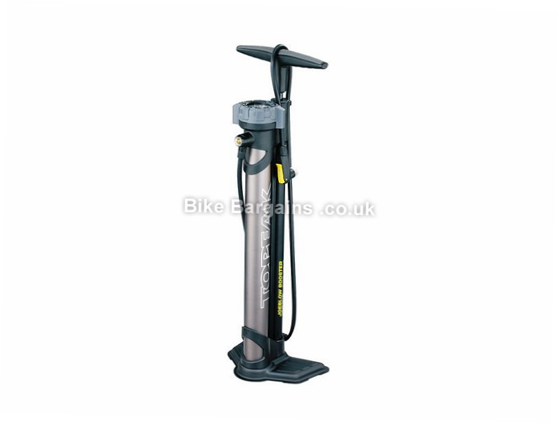 Topeak Joe Blow Booster Tubeless Track Pump 160psi, Presta, Schrader, Black, 2.9kg