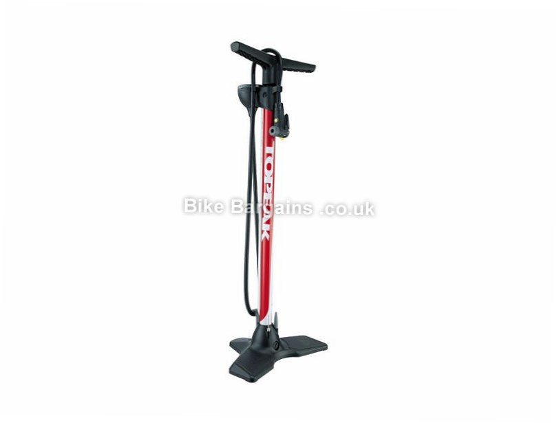 Topeak Joe Blow Race Track Pump 200psi, Presta, Schrader, Red, 1.4kg