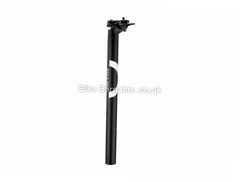 3T Stilo 25 Pro Setback Alloy Seatpost 27.2mm, 31.6mm, 350mm, 280mm, Black, Alloy