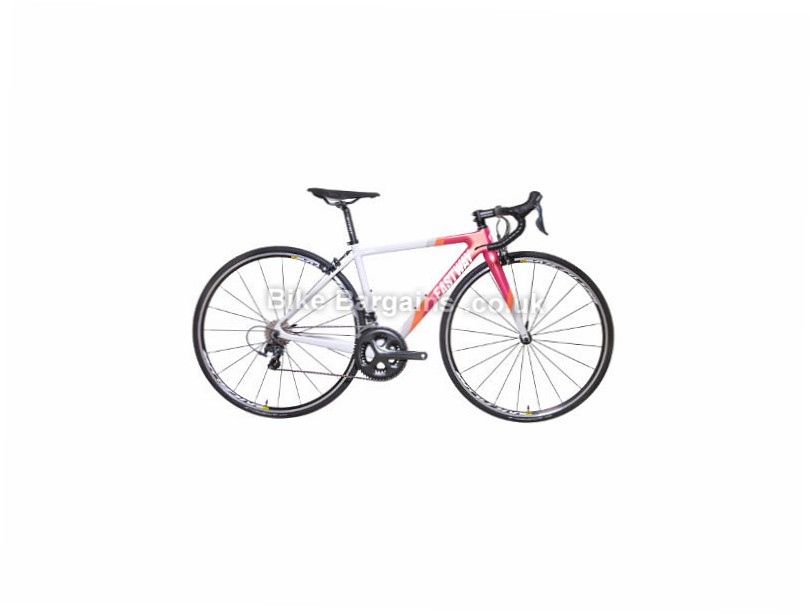 Eastway Emitter R4 Ladies Tiagra Carbon Road Bike 2017 45cm, Grey, Pink, Orange
