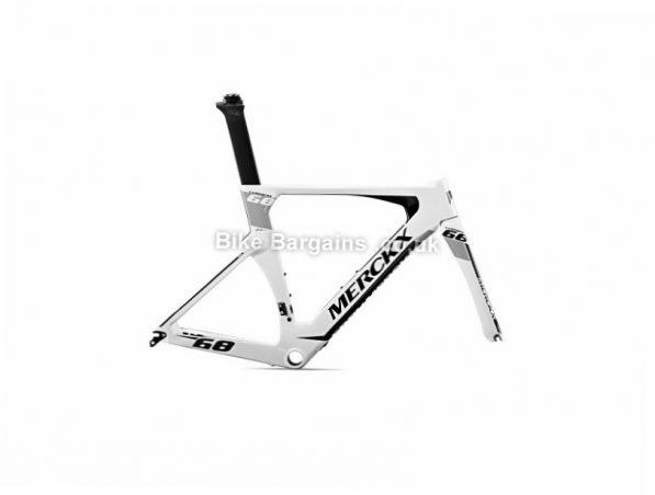 Eddy Merckx Lugano 68 Time trial Carbon Caliper Road Frameset 2017 XL, Black, Grey, White, Carbon, Caliper Brakes, 700c