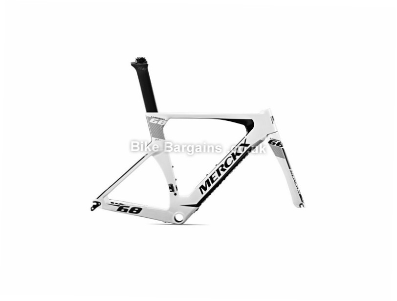 Eddy Merckx Lugano 68 Time trial Carbon Caliper Road Frameset 2017 XL, Black, Grey, White, Carbon, Caliper Brakes, 700c