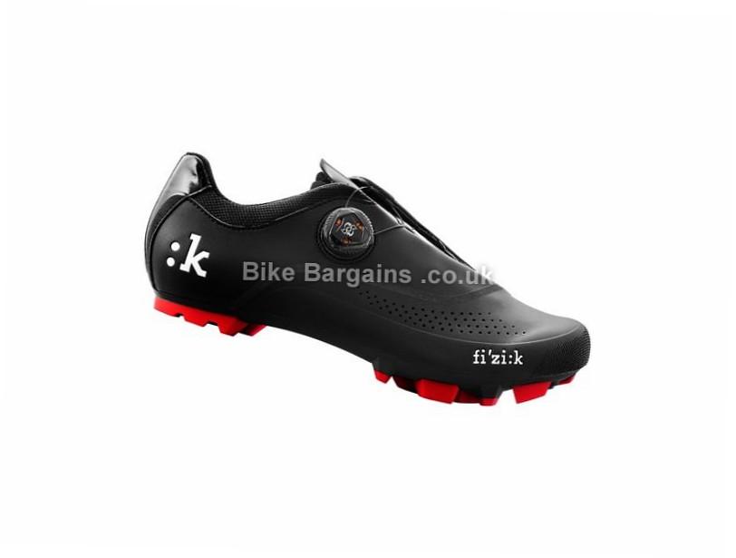 Fizik M3B Carbon MTB SPD Shoes 40, 47, Black, Red