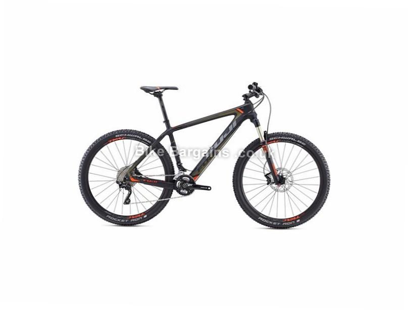 "Fuji SLM 2.3 27.5"" Carbon Hardtail Mountain Bike 2016 27.5"", 19"", Purple, Green, 22 Speed, Carbon"