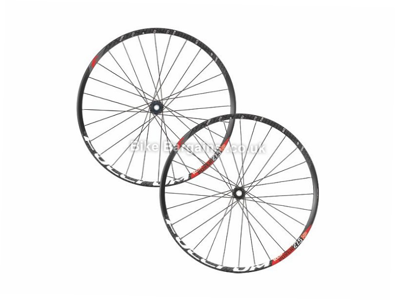 "Fulcrum Red Power HP 27.5 inch 6-Bolt Disc Wheelset 15mm, 142mm, 12mm, 27.5"", Black, White 9/10/11 Speed"