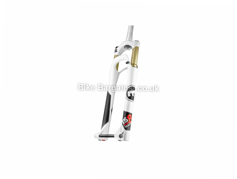 "Magura TS8 R120 MTB Suspension Forks White, 100mm, Tapered, 27.5"", 1440g"