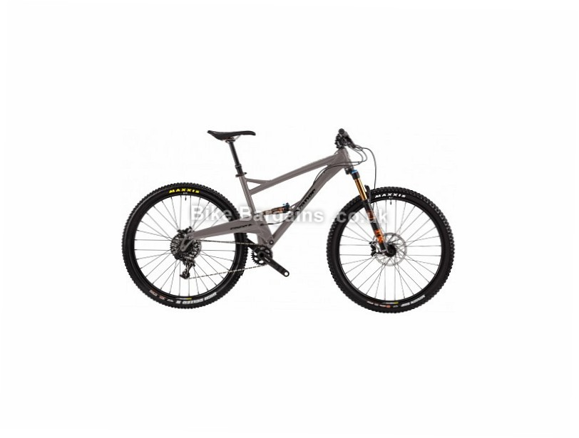 Orange Segment RS Fox Alloy Full Suspension Mountain Bike 2017 M, XL, Grey