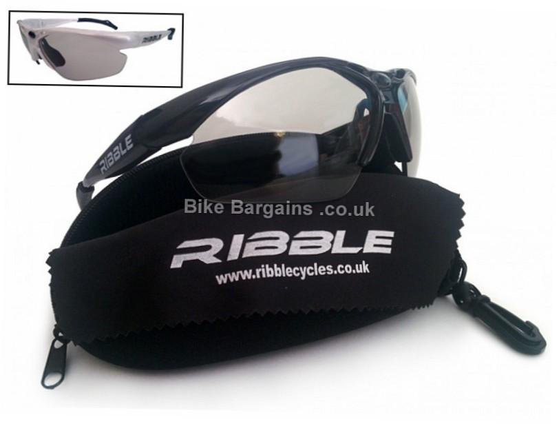 Ribble Photochromic Lens Cycling Glasses Black, Grey, White