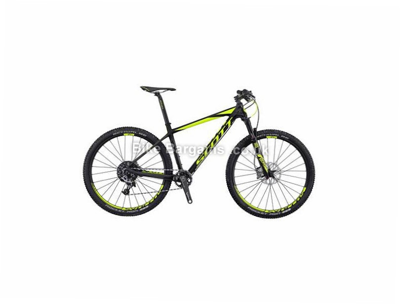 "Scott Scale 700 RC 27.5"" Carbon Hardtail Mountain Bike 2016 Black, Yellow, M"