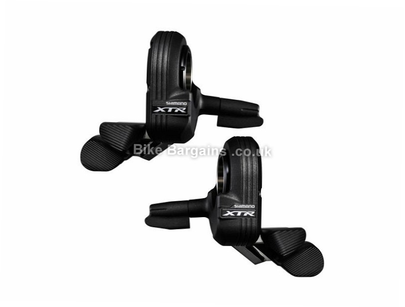 Shimano XTR Di2 M9050 11 Speed MTB Shifter Set Pair, Black, 11 Speed