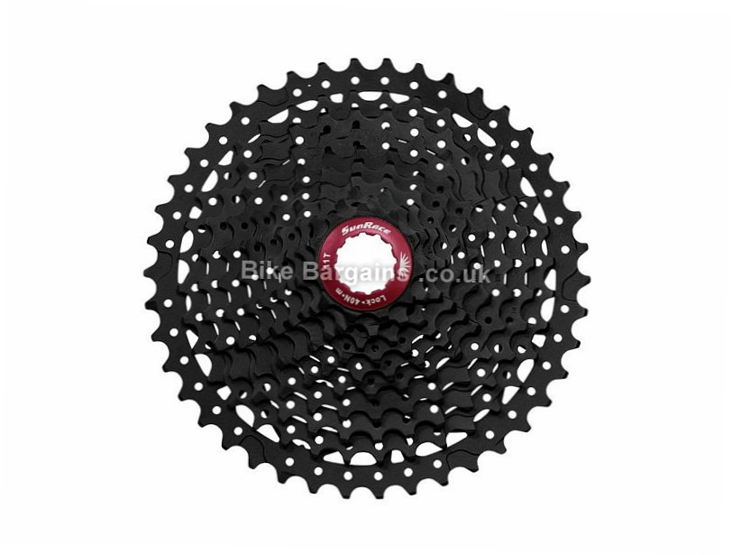 SunRace MX3 10 Speed Cassette 387g, 10 Speed, MTB, Black, Silver